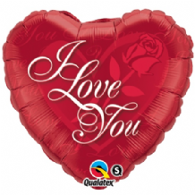 "Love You Red Rose Foil Balloon (18"") 1pc"